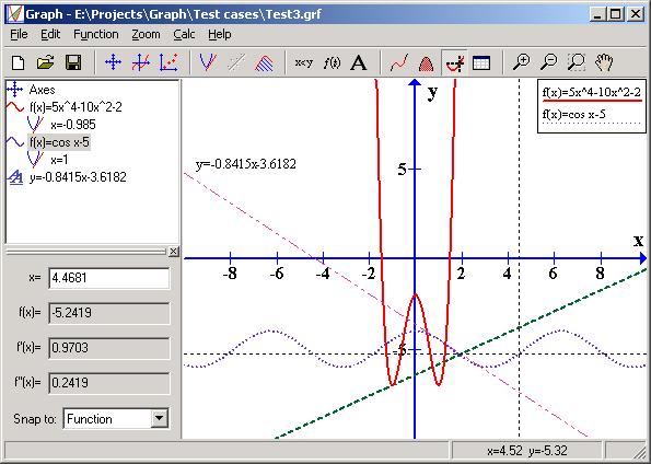 Graph program screenshot